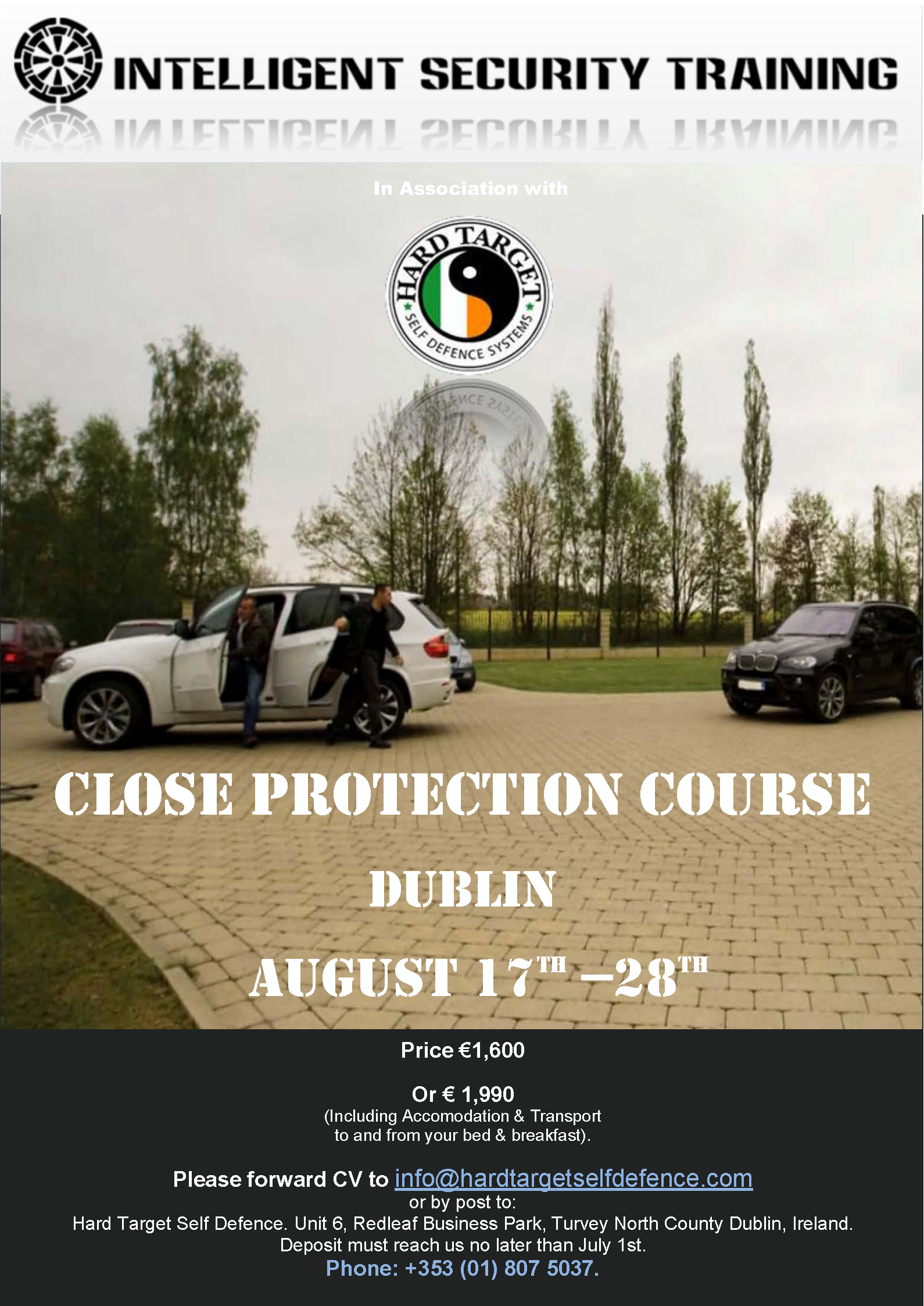 CLOSE PROTECTION COURSE - BODY GUARD TRAINING August 17th - 28th Page 01